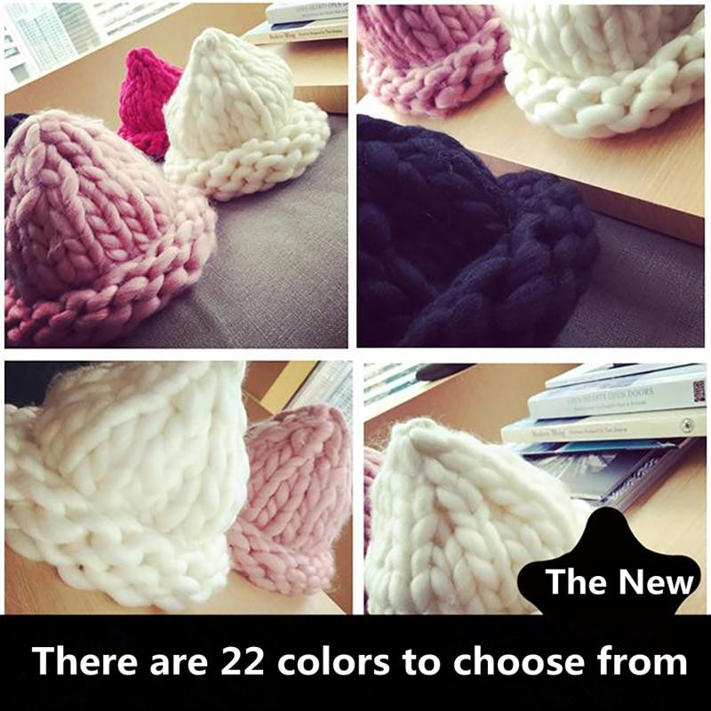Nueva llegada 22 colores suave lana Roving voluminoso grueso grande ...