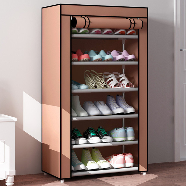 Incroyable 7 Tier Large Capacity DIY Shoe Rack Storage Non Woven Shoe Cabinet Cloth  Shoe Cupboa