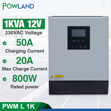 1KVA Solar inverter Pure Sine Wave Hybrid Solar Inverter 12v 220v 800W Built in PWM Solar Charge Controller for Home Use