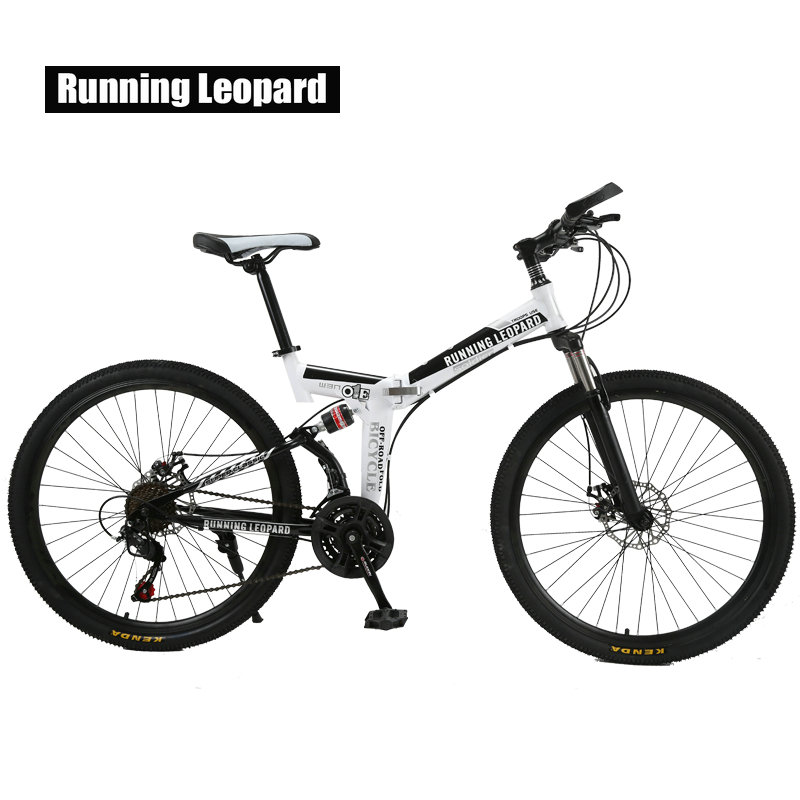 Running Leopard 21 Speed Mountain Bike 26-Inch High-Carbon Steel Dual Disc Brakes One Wheel Speed Damping Bike Child bicycle 2018 anima 27 5 carbon mountain bike with slx aluminium wheels 33 speed hydraulic disc brake 650b mtb bicycle