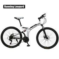 Running Leopard 21 Speed Mountain Bike 26 Inch High Carbon Steel Dual Disc Brakes One Wheel Speed Damping Bike Child bicycle