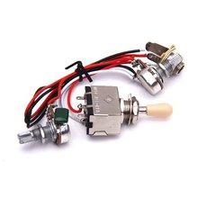 Wholesale 5X Guitar Circuit Wiring 3 Box Toggle Pickup Selector 3WBT/1V/1T/1J 2-500K Pot