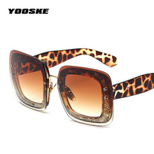 YOOSKE Pearl Sunglasses Women Big Brand Designer Vintage Luxury Eyewear Retro High Street Snap Sun Glasses Oculos De Sol