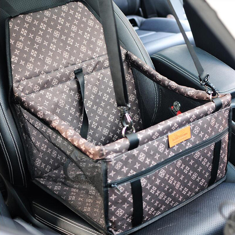 Fashion Dog Carriers Folding Washable Hammock Dog Car Seat Cover Bag Crate Storage Pocket Carrier For Dogs Rear Single Seat Pads
