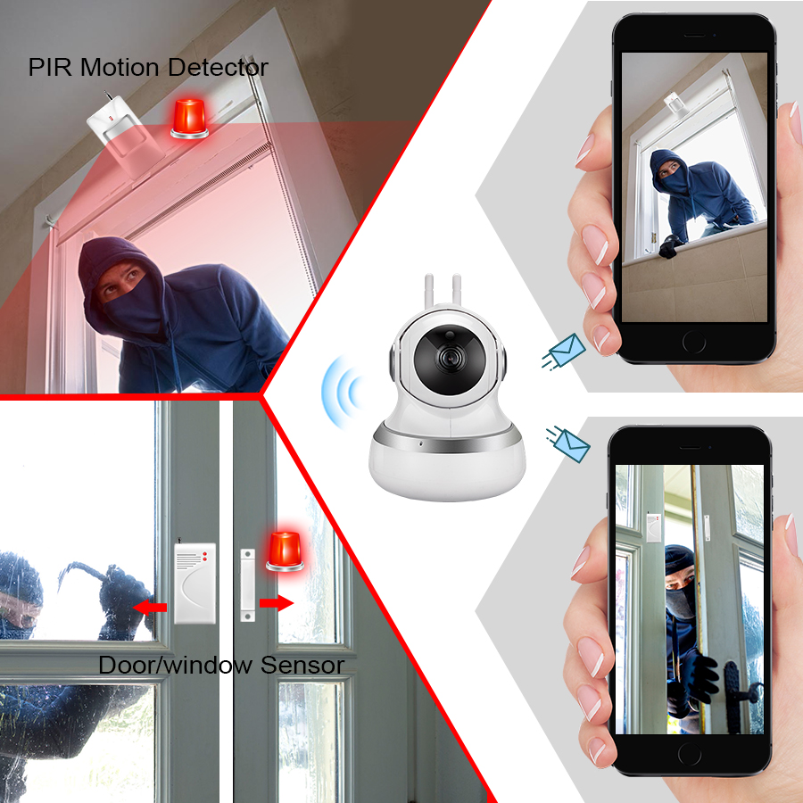 US $24 95 30% OFF|Golden Security 720P Cloud Storage Cam WiFI IP Camera  Motion Detection APP Remote Baby Monitor Security Camera for 2018-in
