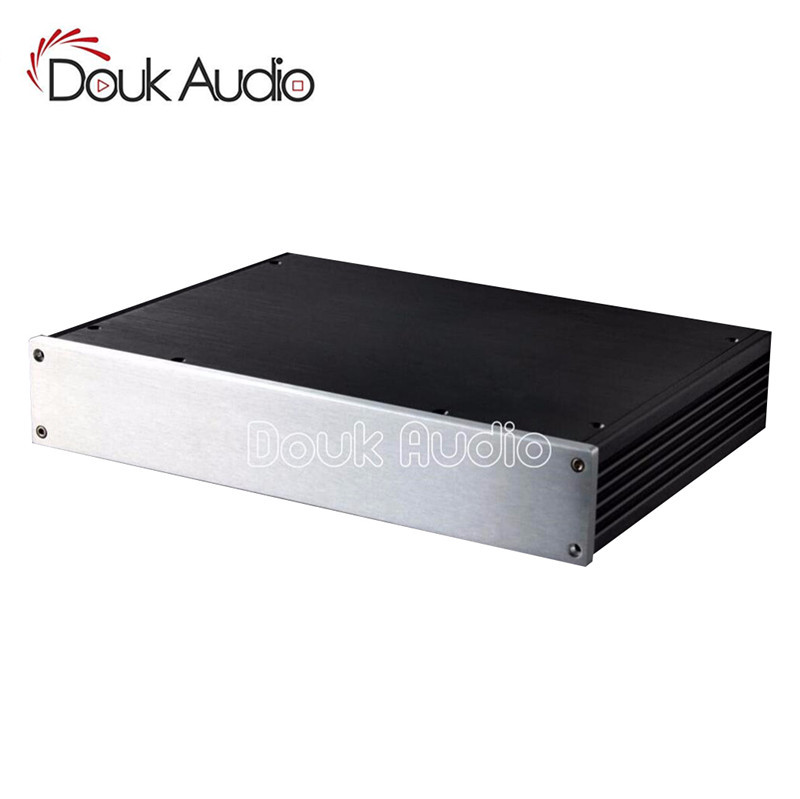 Douk Audio Amplifier Enclosure Aluminum Chassis Professional DIY Case HiFi Box douk audio front panel radiating aluminum chassis power amplifie cabinet diy case black box