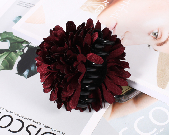 Hair Claw Flower Extra Thick