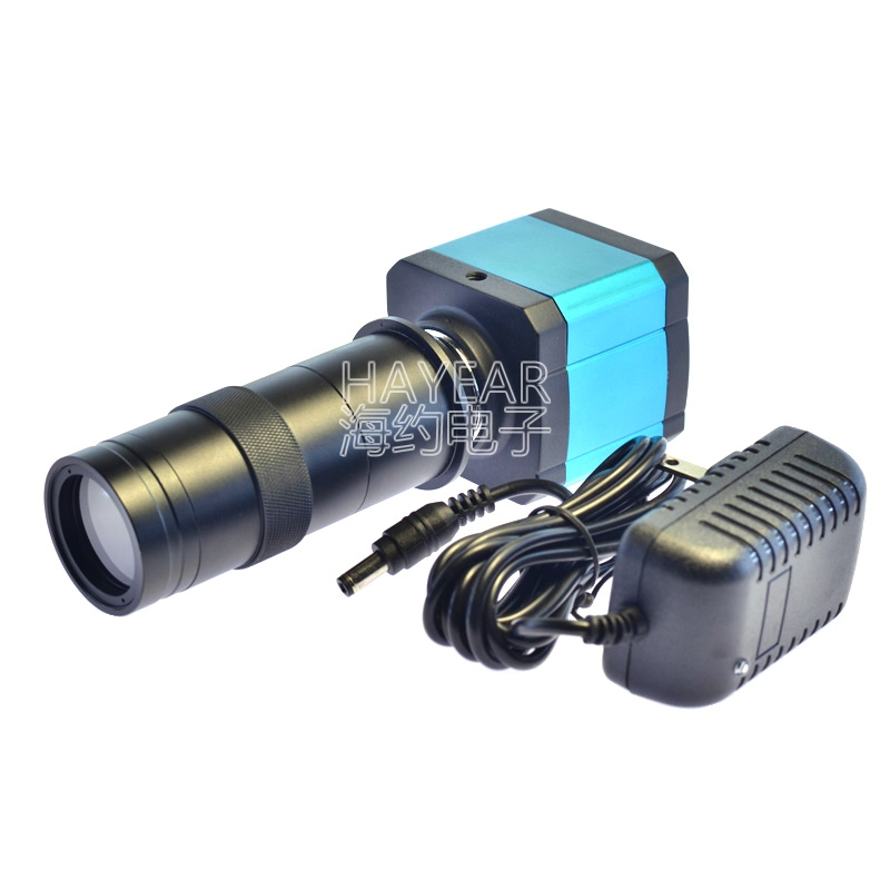 14MP HDMI HD <font><b>USB</b></font> Digital Industry Video <font><b>Microscope</b></font> Camera Set with <font><b>100X</b></font> C-MOUNT Lens image