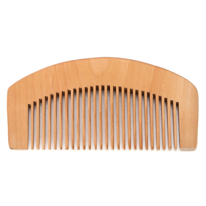 Portable Peach Wood Comb Fine Tooth Head Massage Hair Care Beard Mustache Anti-static New
