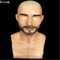 Новый реалистичный мужской маска для Хэллоуин человека женский Маскарад кремния партии маска красавец переодеванию костюм Косплэй маска