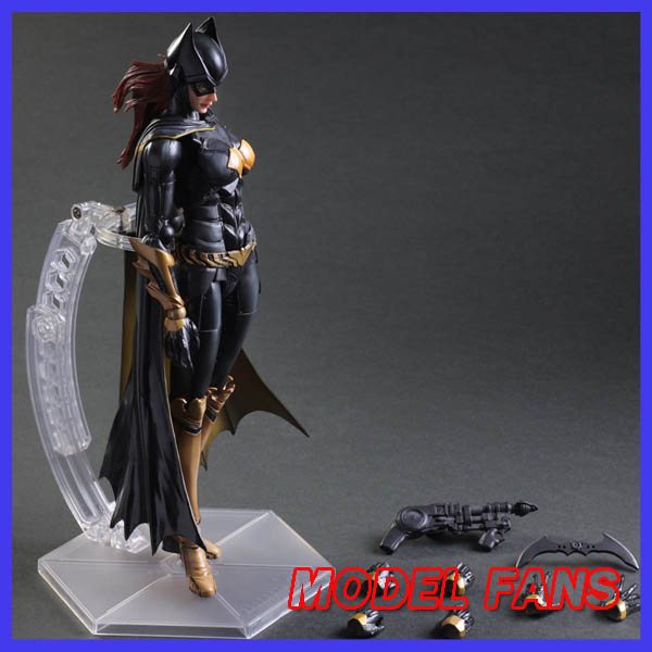 MODEL FANS Play Arts Kai Batgirl Action Figures Dawn of Justice Bat Girl NO5PVC Toys 250mm Movie Model Arkham Knight patrulla canina with shield brinquedos 6pcs set 6cm patrulha canina patrol puppy dog pvc action figures juguetes kids hot toys