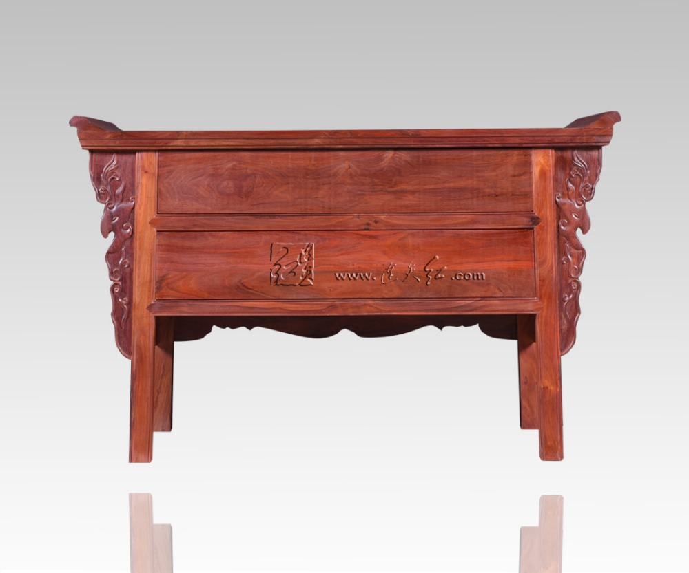 Palissandre salon bas armoires casiers classiques chinois Table TV en bois massif 2 tiroirs casiers Redwood comptoir Dragon sculpture - 5