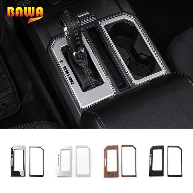 HANGUP 3 Color Car Gear Shift Panel Cup Holder Trim Interior Decoration Stickers For Ford F150
