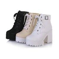 유럽 스타일의 여성 겨울 신발 PU
