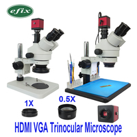 efix 3.5 45X 13MP HDMI VGA HD Trinocular Stereo Soldering Microscope Stand Lens Digital Camera for Repair Mobile Phone Tools