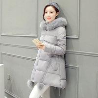 2018 winter coat Girls long section of thicker Korean fur collar cape coat loose big yards padded jacket