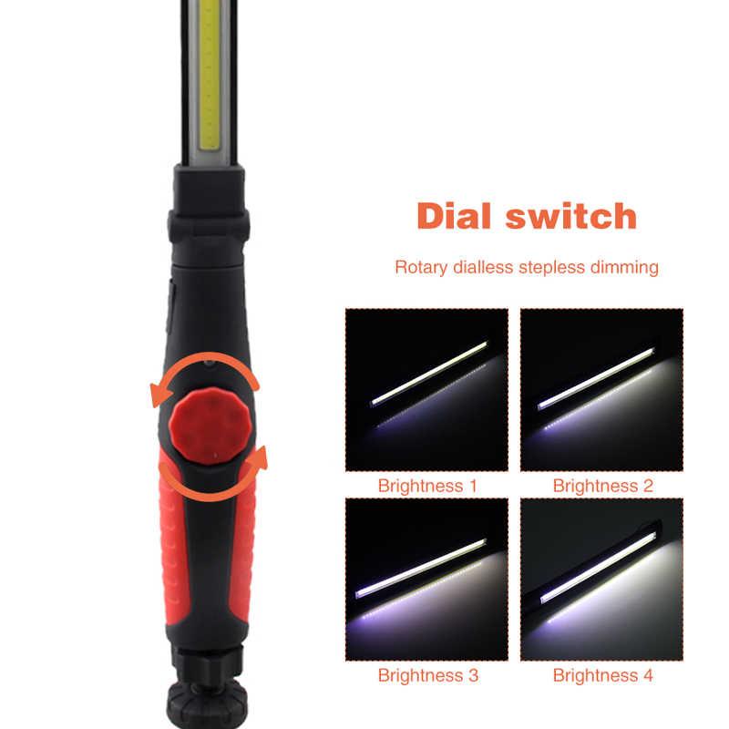 USB Перезаряжаемый рабочий свет светодио дный факел автомобилей COB Магнитная ремонт лампы кемпинг 410 люмен Многофункциональный Портативный
