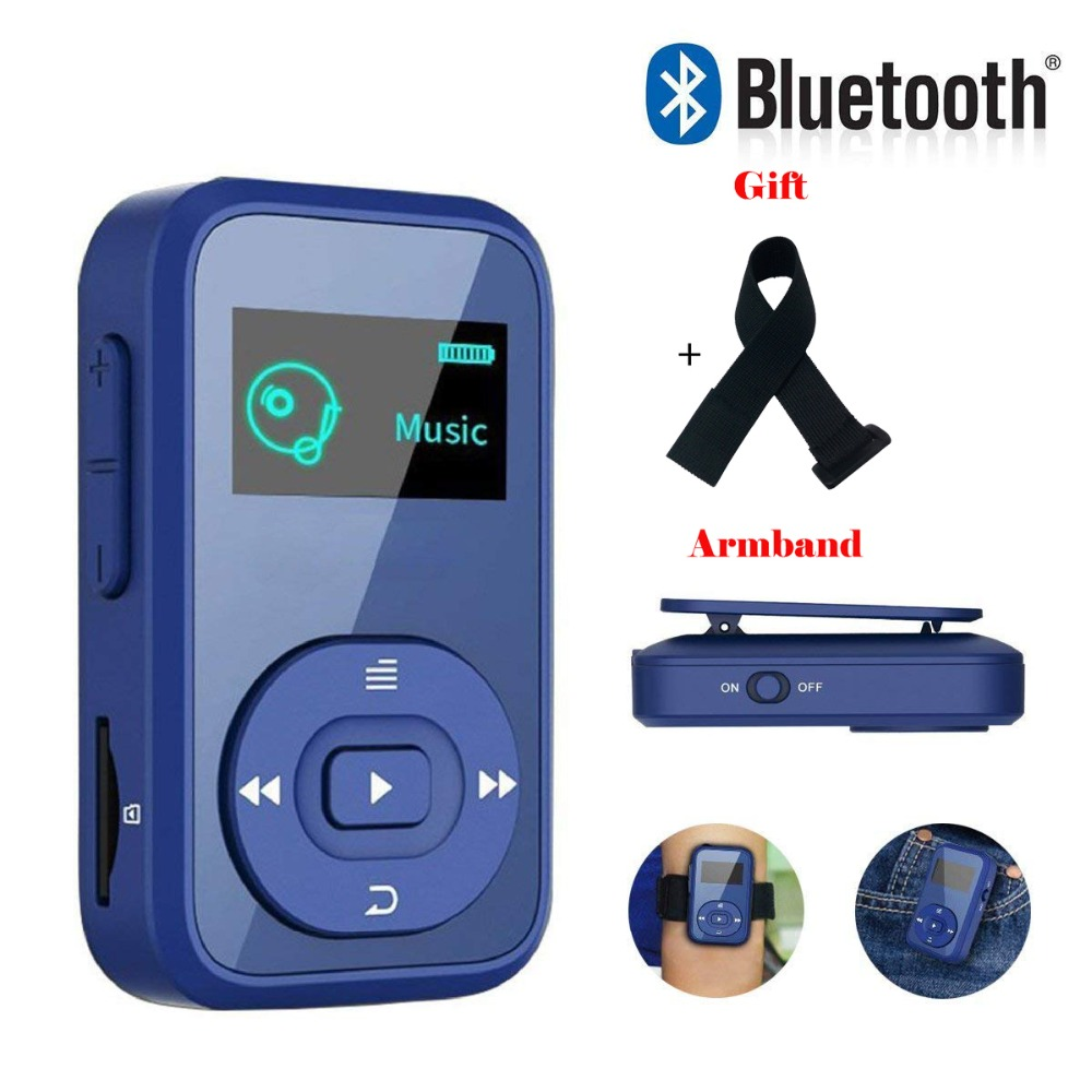 1.8 Inch Screen MP3 Music Player,8GB Bluetooth Clip Digital Music Player With FM Radio/Voice Record Function Special  MP3player