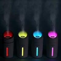 Diffuseur ultrasonique d'arome d'humidificateur d'air de 320ML avec la lumière colorée de nuit de LED pour la voiture à la maison Mini brumisateur de fabricant de brume d'épurateur d'usb
