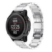 Genuine Stainless Steel Bracelet Quick Release Fit Band Strap For Garmin Fenix 5 GPS Watch