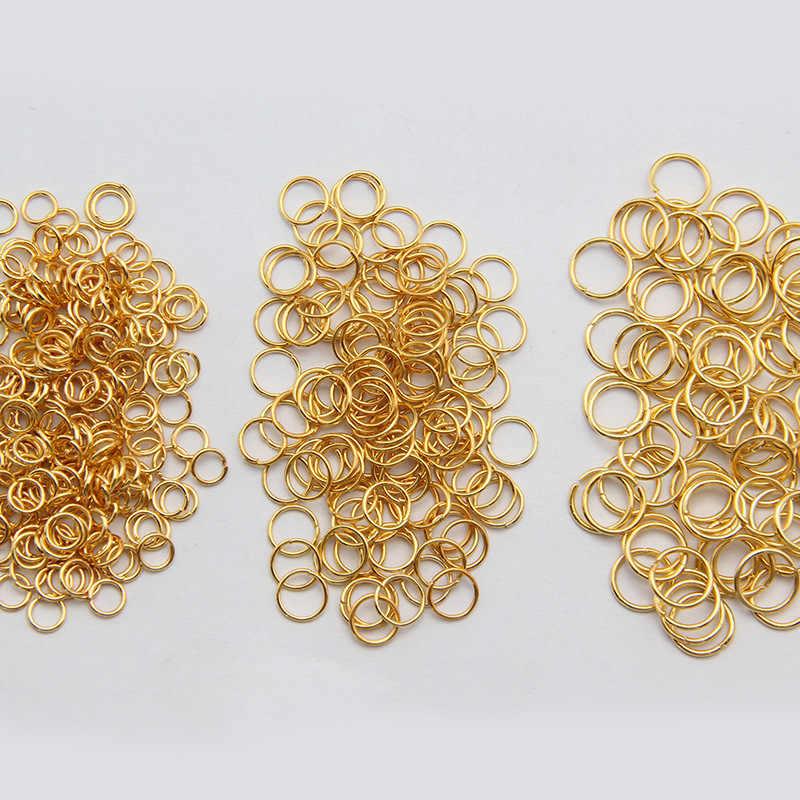 זהב כסף קישור לולאה 3 4 5 6 7 8 10 12 14 16 mm להרחיב קפיצת טבעת עבור DIY תכשיטי ביצוע שרשרת צמיד ממצאי מחבר