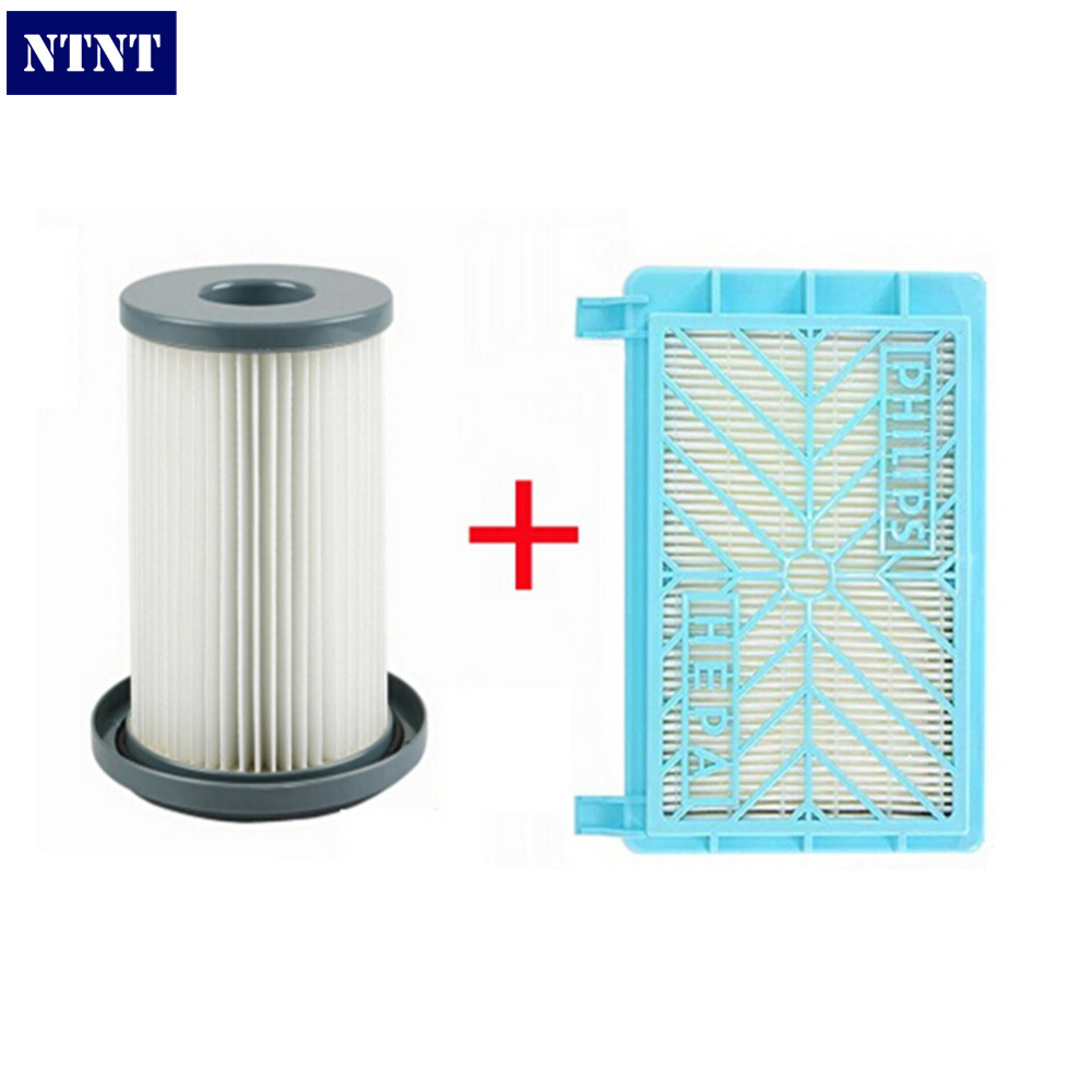 ФОТО NTNT 2X Vacuum Cleaner Accessories Cleaner Wind the HEPA+12CM Filter Element For Philips FC8712 FC8714 FC8716 FC8720 FC8722