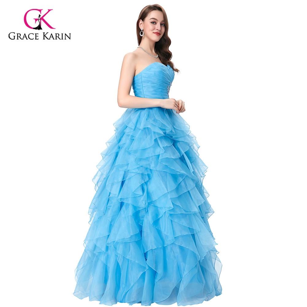 2018 Grace Karin barato Amarillo/azul/fucsia vestido de novia sin ...