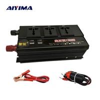 AIYIMA 1200W DC12V/24V Double Digitally Pure Sine Wave To AC220V With USB Home Power Converter Voltage Transformer Converter