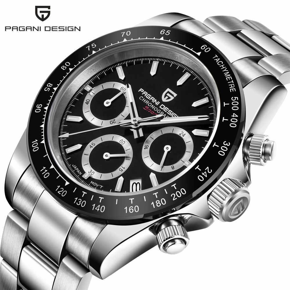 PAGANI PROJETO Chronograph Desporto Relógios Homens Luxo Marca Quartz Watch Full Aço Inoxidável relógio À Prova D' Água Mergulho 30M relogio masculino