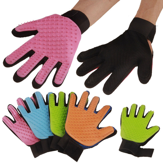 Silicone Pet brush Glove Deshedding Gentle Efficient Grooming Cat Glove Dog Bath Pet Cleaning Supplies Glove Accessories AB200