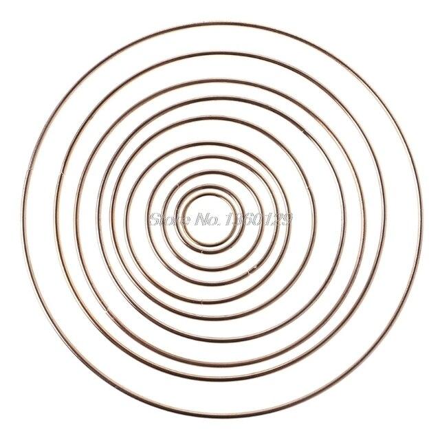 Atrapasueños de Metal atrapasueños anillo macramé artesanal aro DIY accesorio 35-190mm