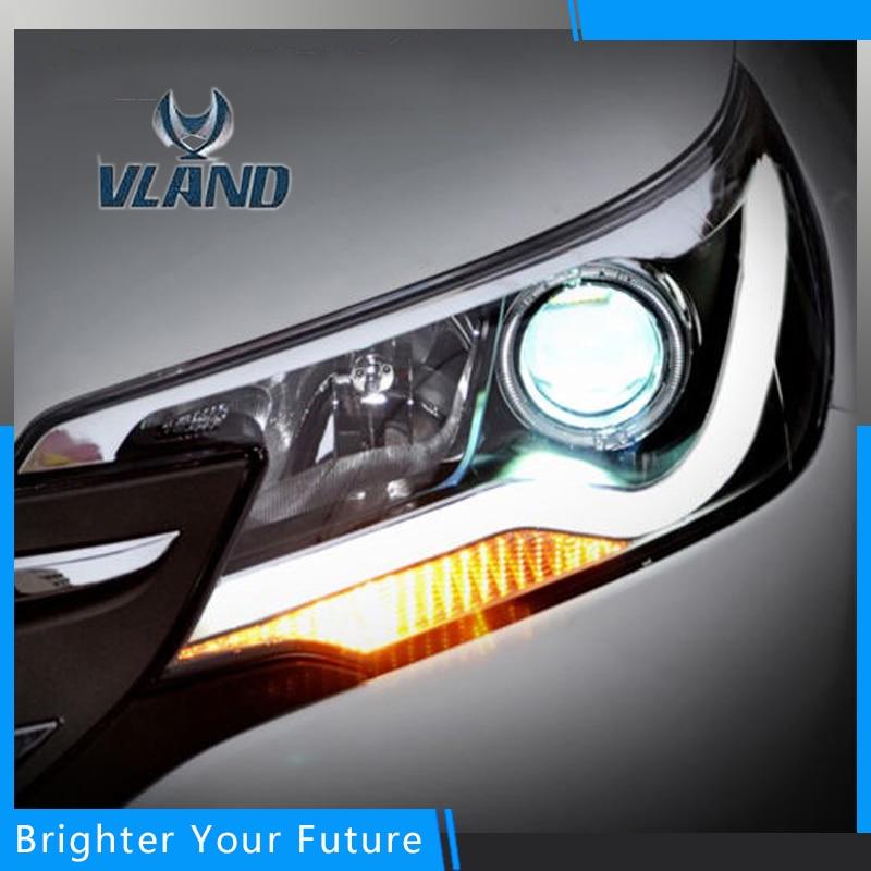 Новый глава передняя свет лампы для Хонда CRV фары с Ангел глаз ДРЛ проектор фары 2012-2015