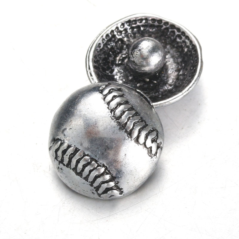 10pcs/lot Boom Life <font><b>Snap</b></font> <font><b>Jewelry</b></font> Crystal Baseball Metal <font><b>12MM</b></font> <font><b>Snap</b></font> <font><b>Buttons</b></font> Fit DIY OEM <font><b>Snap</b></font> Bracelets For Women 5344 image