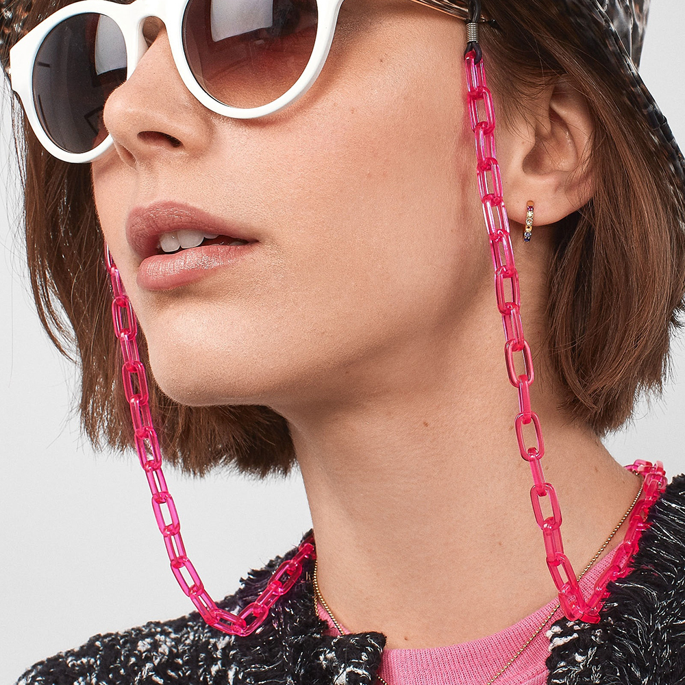 New Fashion Acrylic Sunglasses Chain Women Eyeglass Reading Glasses Chain Adjustable Ends Cord Holder Retainer Neck Strap Rope