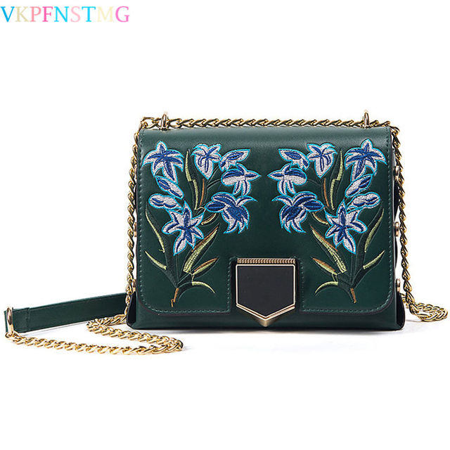 0cc5e777017f women bags messenger leather bag luxury designer embroidered bag fashion  handbags chain crossbody shoulder bags ladies