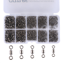 Goture 500pcs/lot Fishing Swivels 4# 6# 8# 10# 12# Rolling Swivel Connector For Fishing hooks Fishing Tackle Accessories