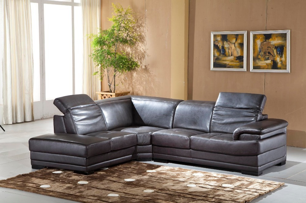designer modern style top graded cow genuine leather sofa sectional - Furniture - Photo 2
