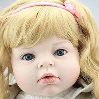 Бесплатная доставка 70 см Силиконовые Reborn Baby Doll Реалистичного большой Размеры Детки Reborn куклы Рождественские подарки на день рождения для м