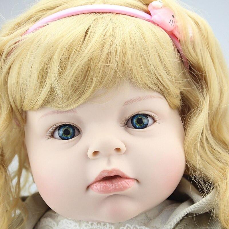 Livraison gratuite 70 cm Silicone Reborn bébé poupée réaliste grande taille princesse bébé Reborn poupée jouet noël anniversaire cadeaux infantile