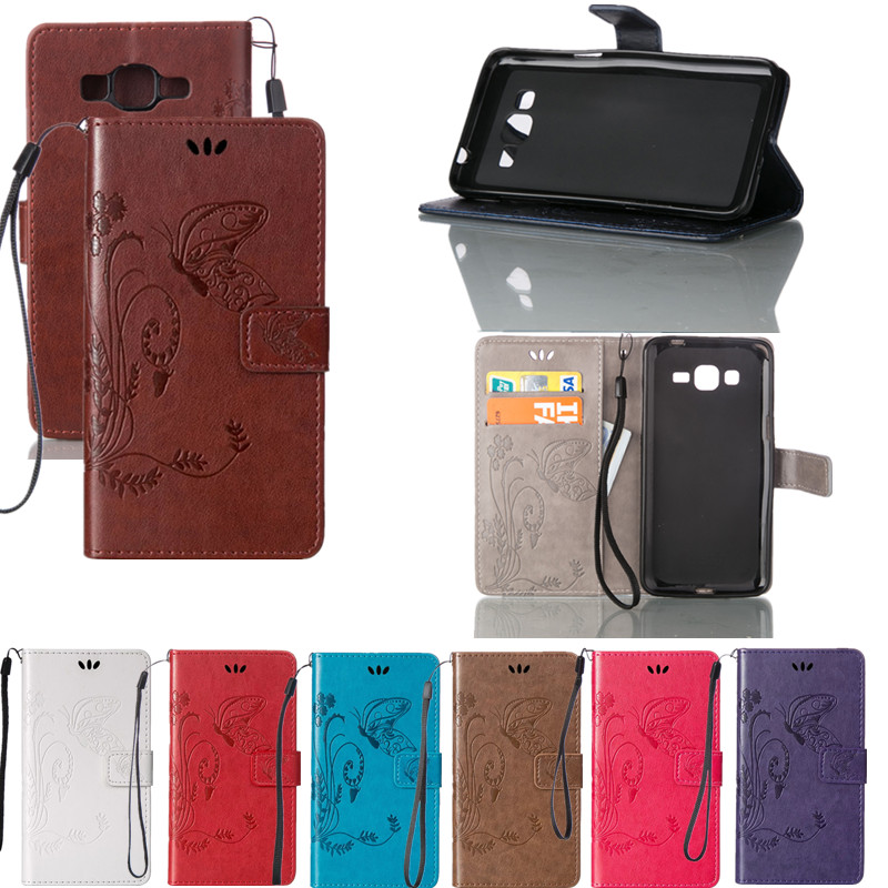 Retro Flower Pattern Capa Phone Cases For Samsung Galaxy 2016 J1 Mini Ace J2 J3 J5 J500 J7 Flip Book Leather Card Wallet Stand