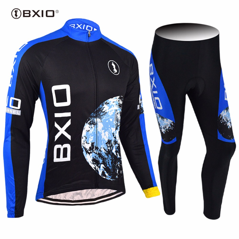 2017 New Arrival BXIO Cycling Jersey Long Sleeve Bicycle Sport Wear Autumn Men Road Riding Pro Bike Team Racing Maillots 055
