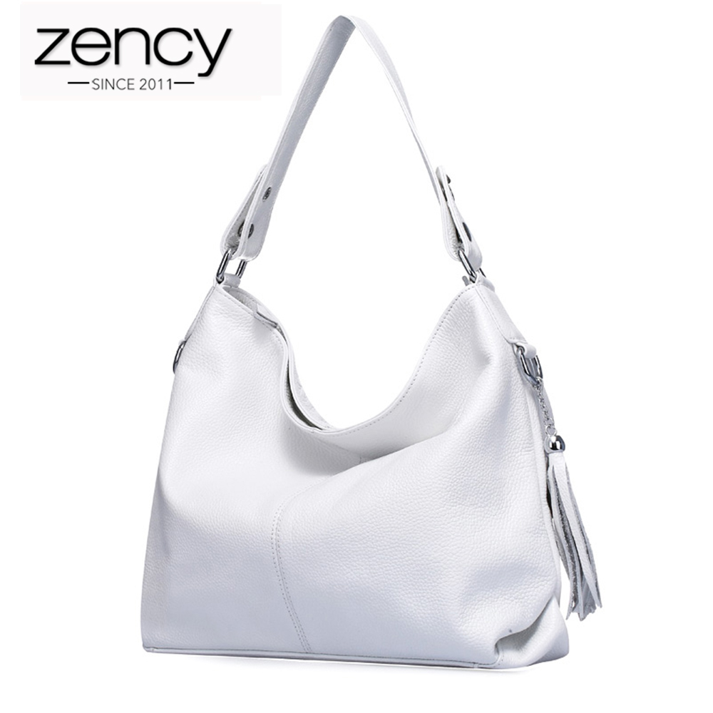 Zency 2018 Famous Designer Brand Women Shoulder Bag 100% Genuine Leather Fashion Female Messenger Handbag Tassels bolsas mujer fashion casual michael handbag luxury louis women messenger bag famous brand designer leather crossbody classic bolsas femininas
