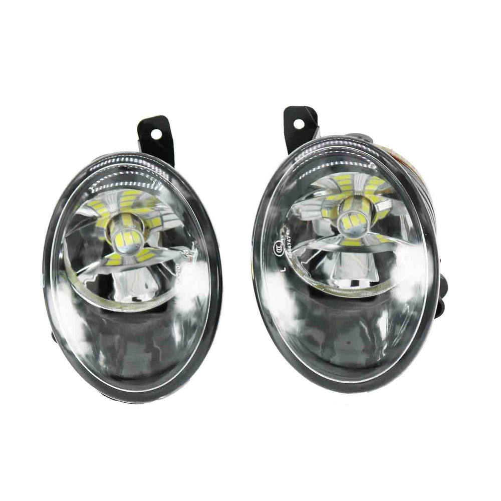 2Pcs For VW Transporter Multivan T5 Facelift T6 2010 2011 2012 2013 2014 2015 Car-Styling Front LED Fog Light Fog Lamp runmade for 2010 vw transporter t6 t5 before facelift lower bumper grill fog cover fog light lamp set left