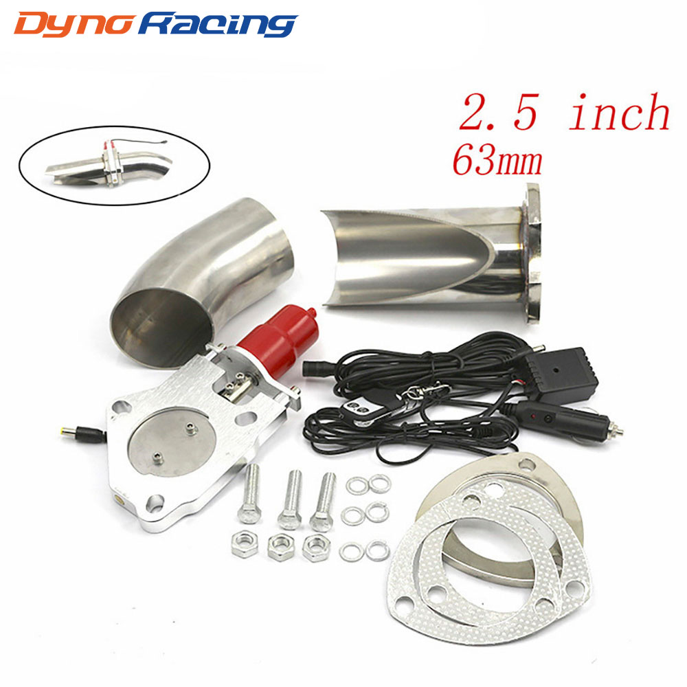 2 25 2 5 3 inch Exhaust Control Valve With Remote Control Car Electric Exhaust Valve