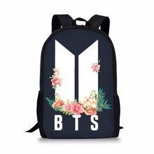 0b1c70850e Mode Kpop BTS lettre impression sacs à dos enfants sacs d'école pour  adolescents filles livre sac épaule sac à dos ensemble cray.