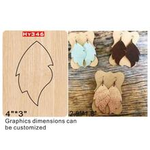 Leaf earrings  cutting dies 2019 die cut & wooden Suitable for common machines on the marke