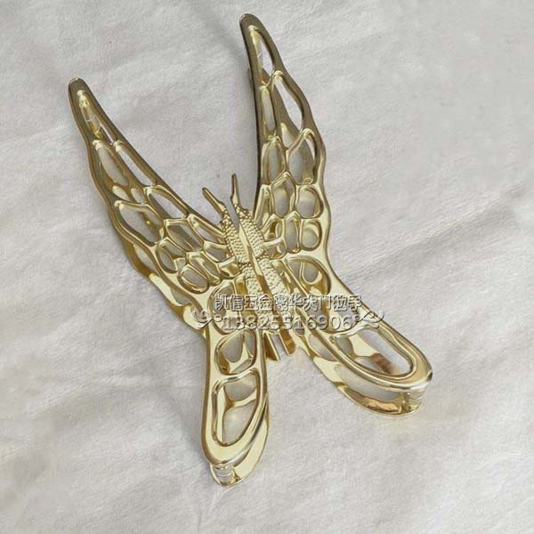 Golden butterfly modern bronze glass door handle door handle door handle Chinese handle golden bronze sparkle