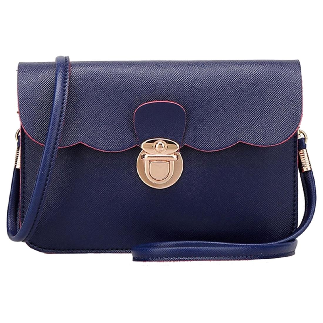 SCYL Fashion Women's PU Leather Shoulder Bag Clutch Handbag Tote Purse Hobo Messenger (Deep Blue) women s fashion pu leather messenger hobo handbag purse shoulder bag purse lady tote black