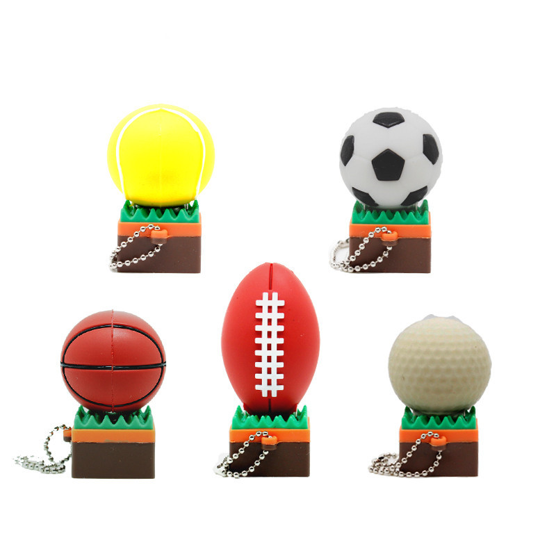 Cartoon Sports Balls Series Usb Flash Drive Tennis Pen Drive Basketball Football Rugby Golf Memory Stick 4 8 16 32gb Pendrive Usb Flash Drives Aliexpress