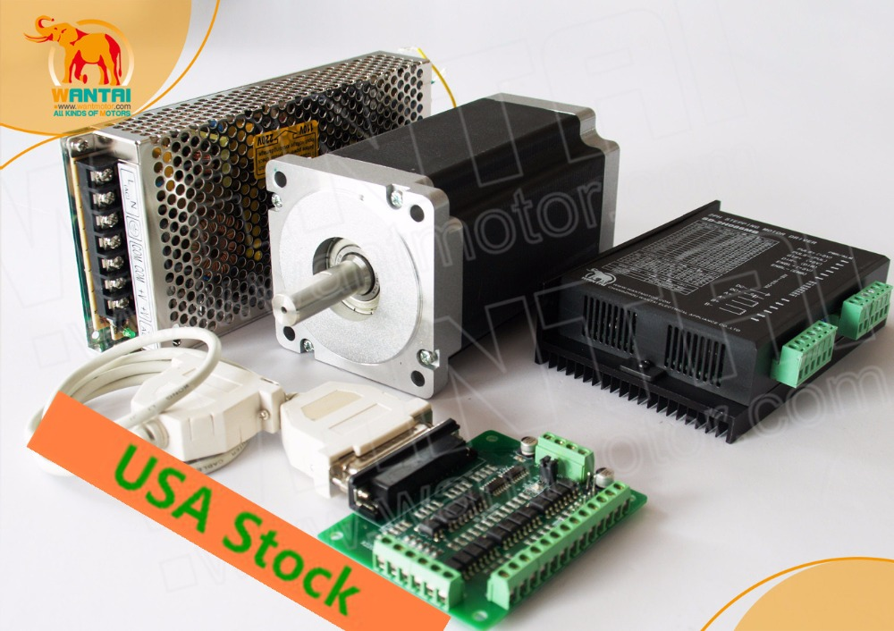 [USA Stock&EU Free]! CNC Wantai 1Axis Nema34 Stepper Motor 85BYGH450C-060 1700oz-in 151mm 6A CNC Machine Milling Engraving стоимость